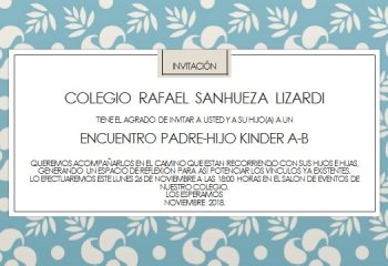 INVITACIÓN KINDER A-B